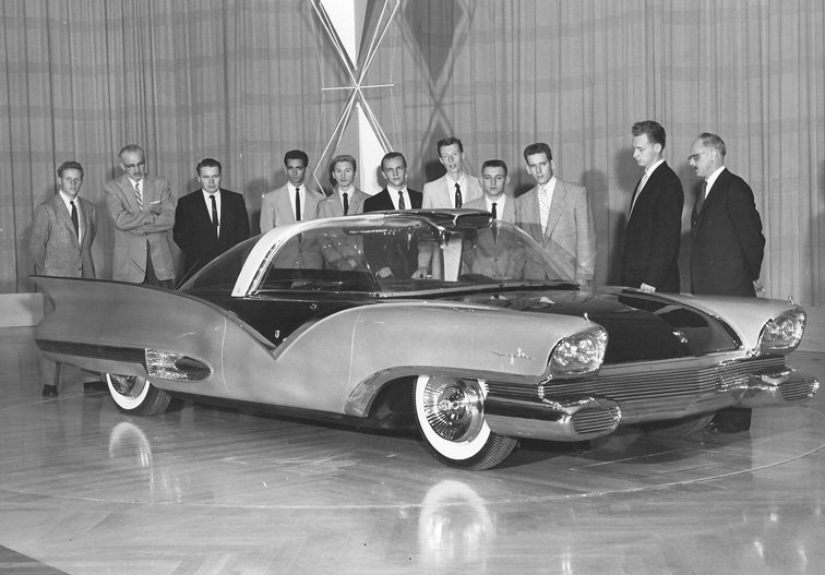 1955 Ford Mystere and some guys in suits