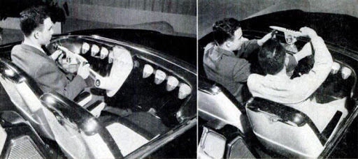 1955 Ford Mystere interior