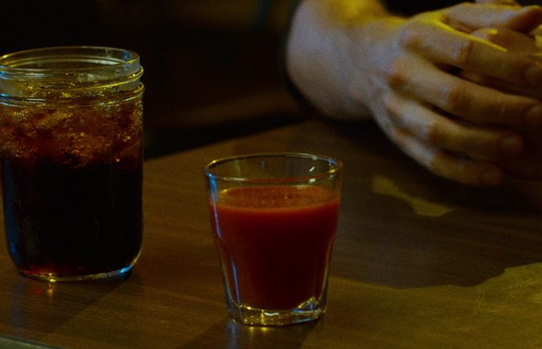 Fireball cocktail, screenshot from the film