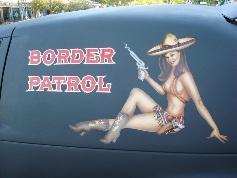 Border Patrol pin-up 12