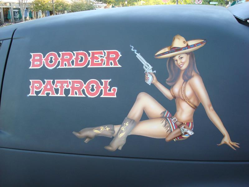Border Patrol pin-up 12