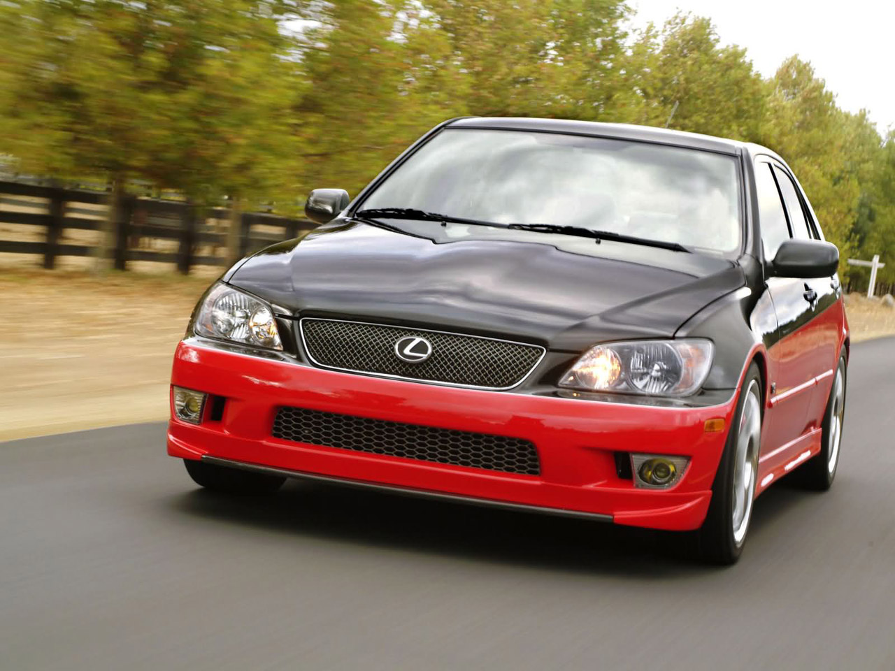 Lexus IS 430 in motion, front
