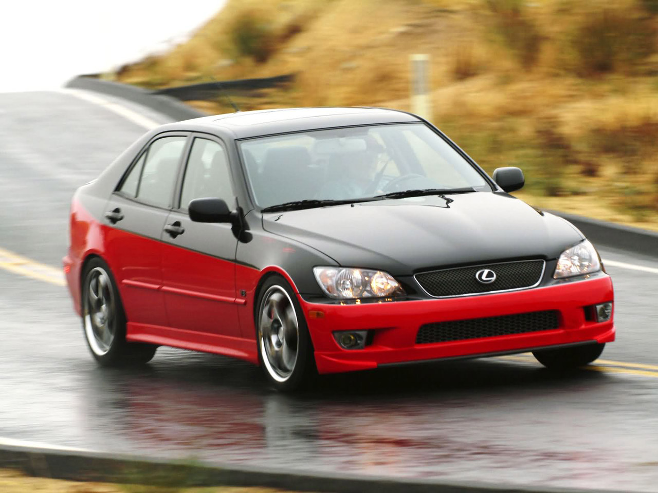Lexus IS 430 in motion, front quarter