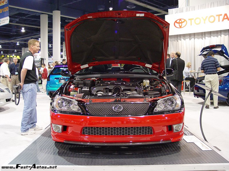 Lexus IS 430 on the auto show, front