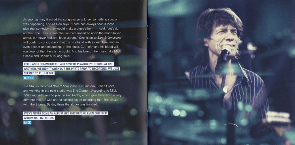 Blue & Lonesome booklet scan page 2