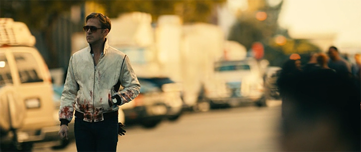 Drive 2011, кадр из фильма Драйв, окровавленный Райан Гослинг