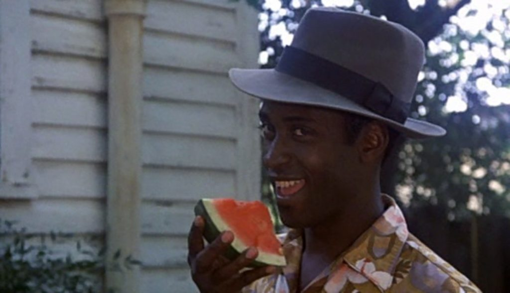 Greased Lightning movie Peewee enjoys his watermelon