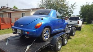 PT Cruiser custom coupe rear quarter 1