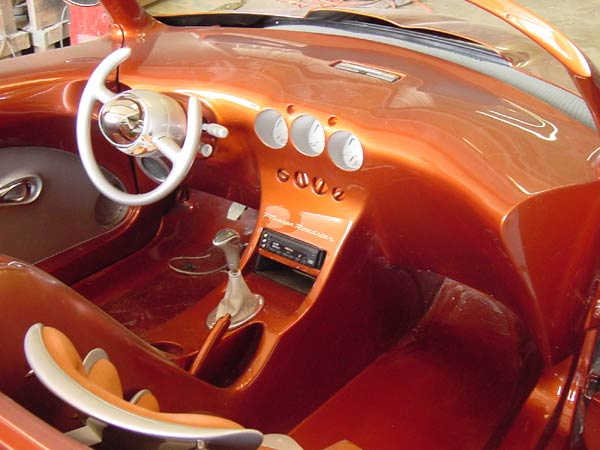 PT Cruiser custom PTeazer roadster interior shot 1