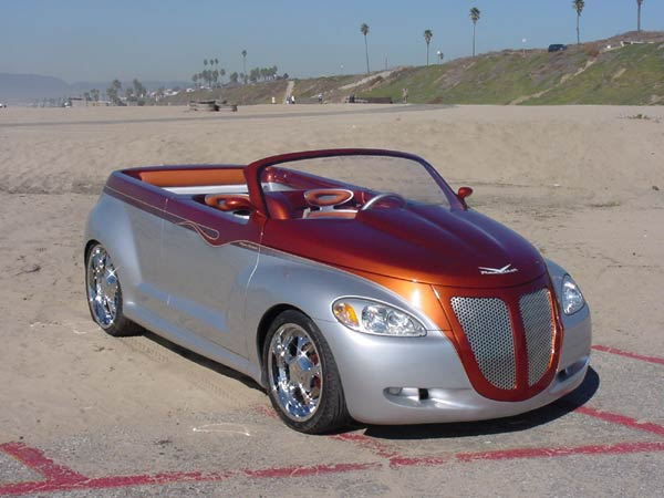 PT Cruiser custom PTeazer roadster front quarter 1