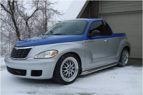 PT Cruiser with a V10 front quarter