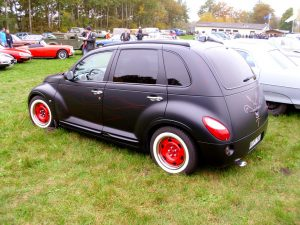 PT Cruiser custom minimal restyling rear quarter