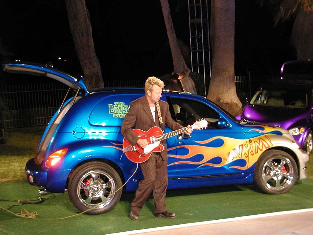 PT Cruiser Vavoom custom with Brian Setzer