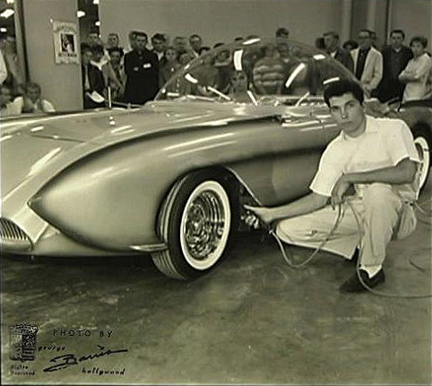 X-Sonic with his owner, George Barris photo