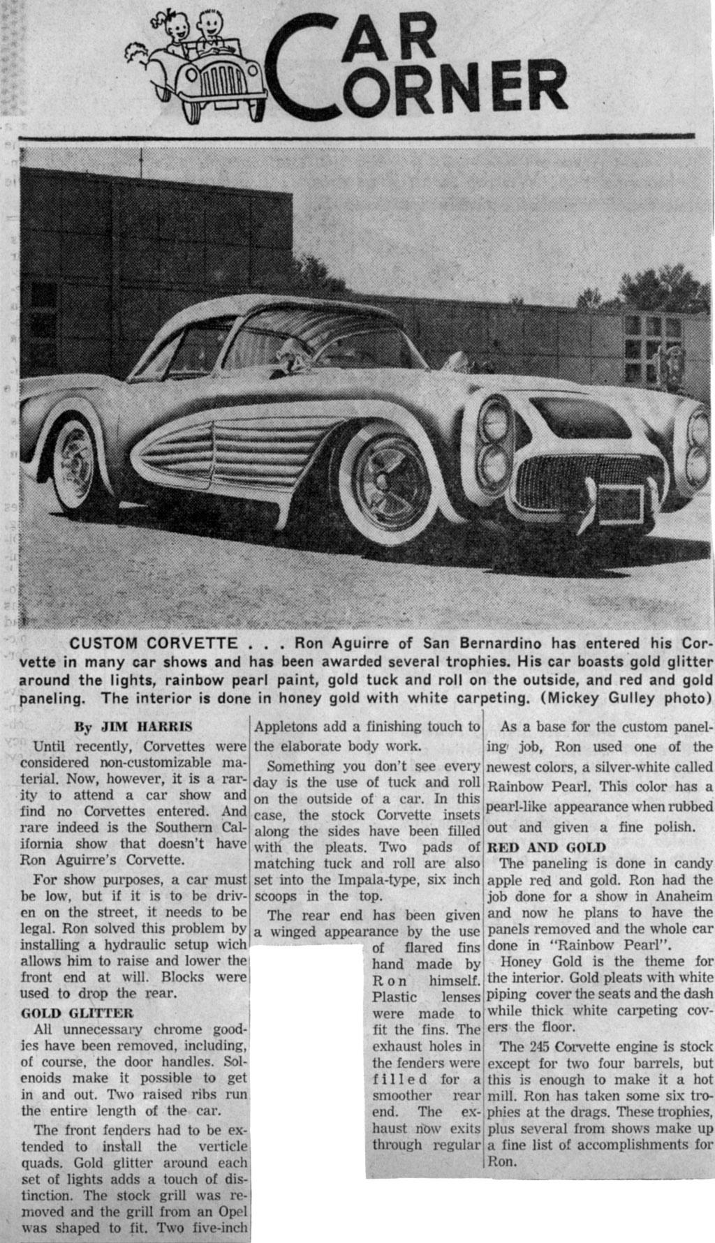 X-Sonic in Car Corner article
