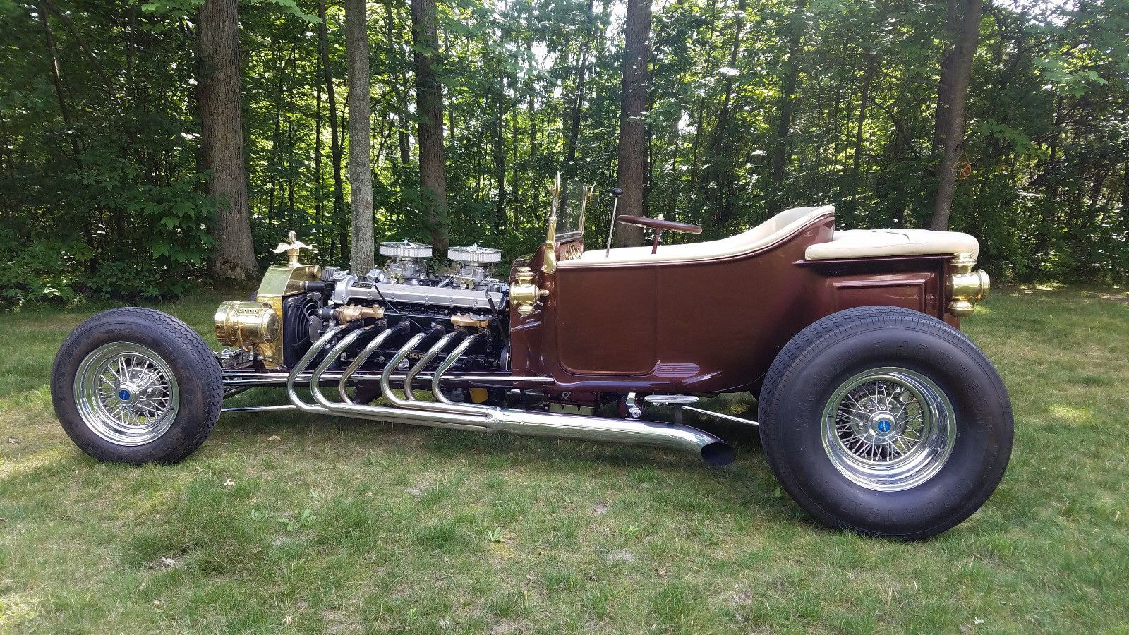 T-bucket with Jaguar V12 & Edelbrock carbs 07