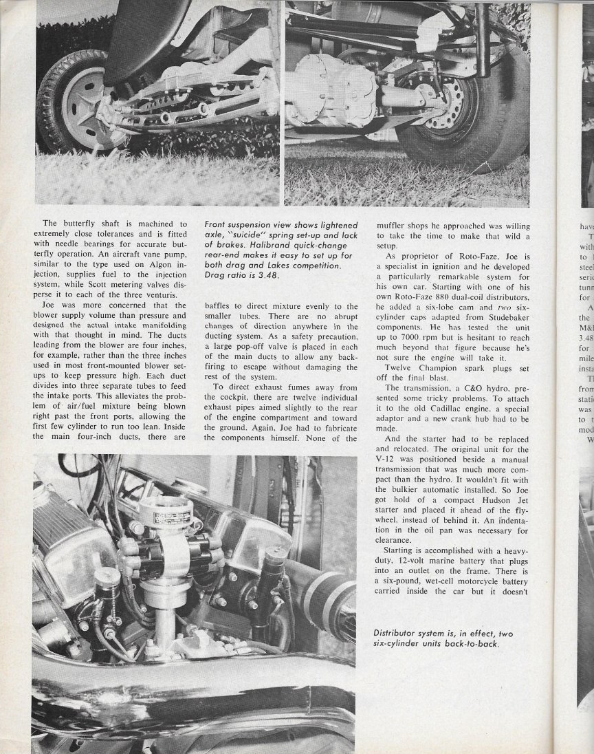 Caddy V12 powered Ford Popular Hot Rodding article page 62