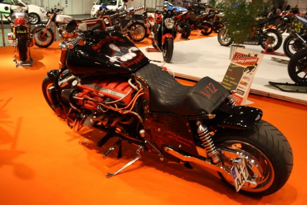 Aston Martine V12 powered custom chopper 02