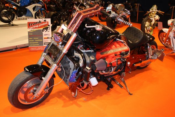 Aston Martine V12 powered custom chopper 03