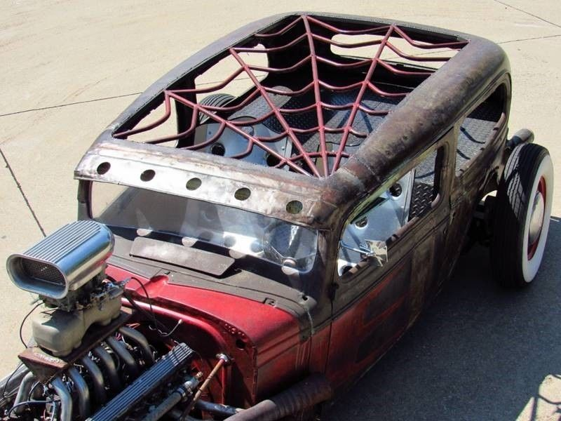 Oldsmobile rat-rod with Jaguar V12 09