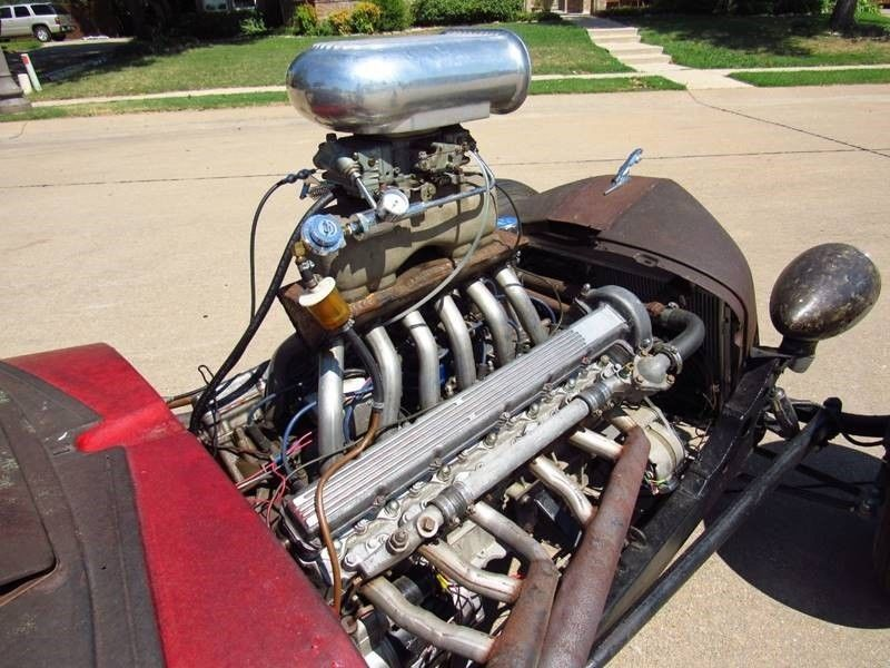 Oldsmobile rat-rod with Jaguar V12 16
