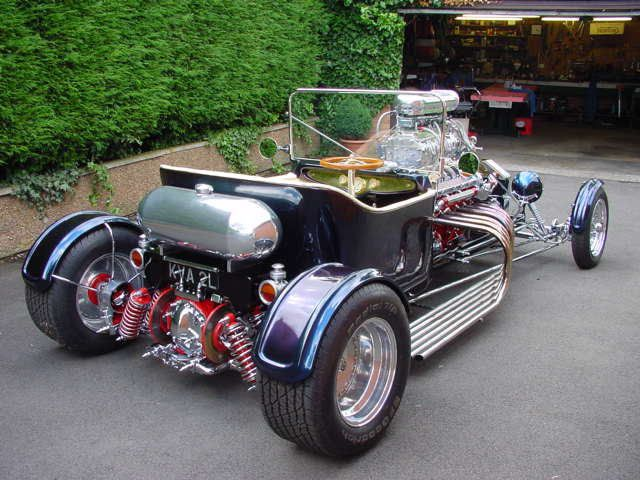 My favourite hor-rod with supercharged Jaguar V12 rear