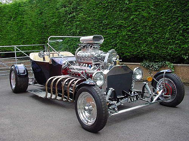 My favourite hor-rod with supercharged Jaguar V12 front
