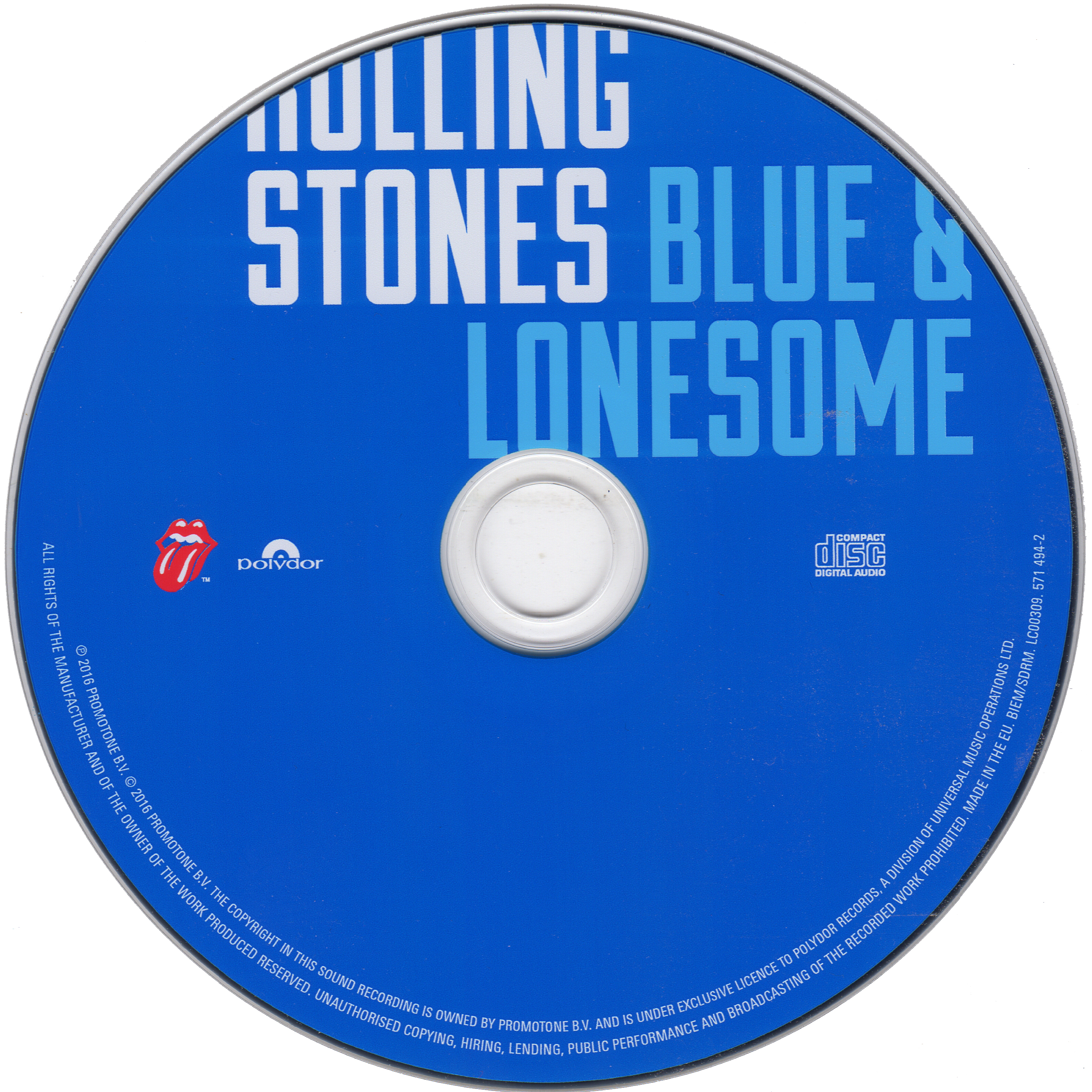 Blue & Lonesome disc scan