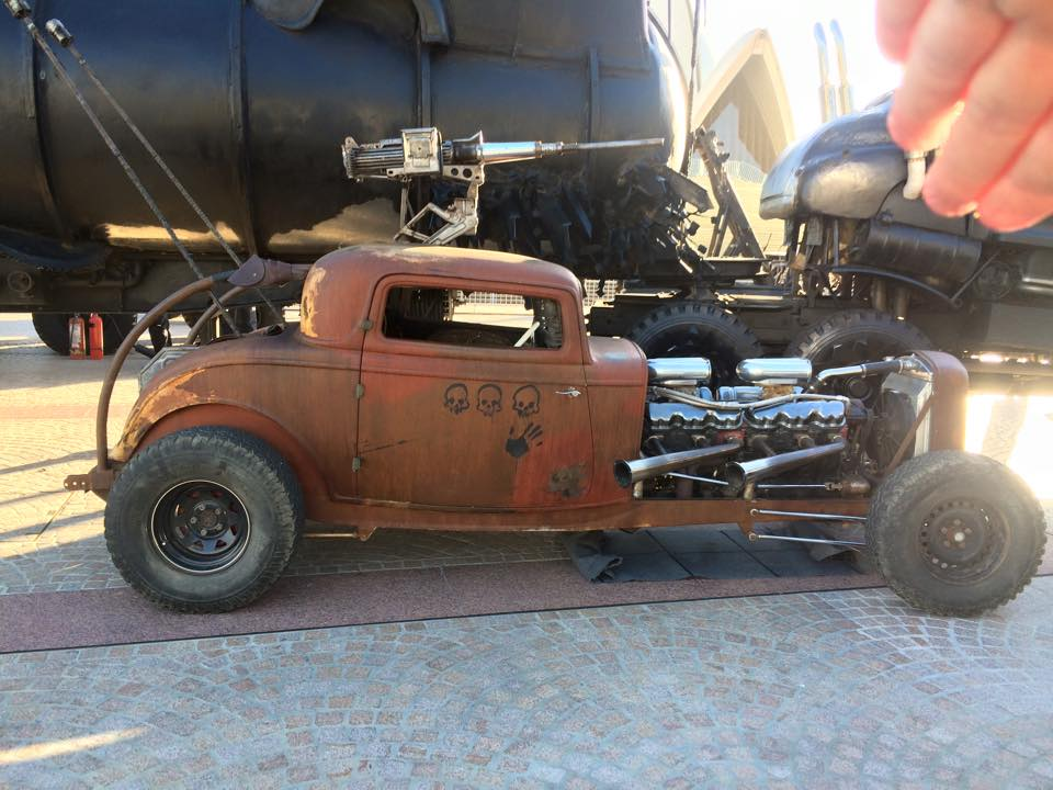 Elvis the GMC V12 hot-rod at the Mad Max: Fury Road premiere