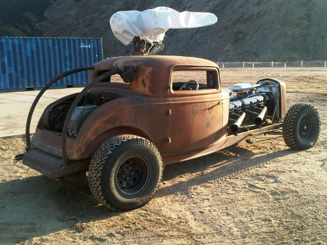 Elvis the GMC V12 hot-rod during the Mad Max: Fury Road production, photo 1