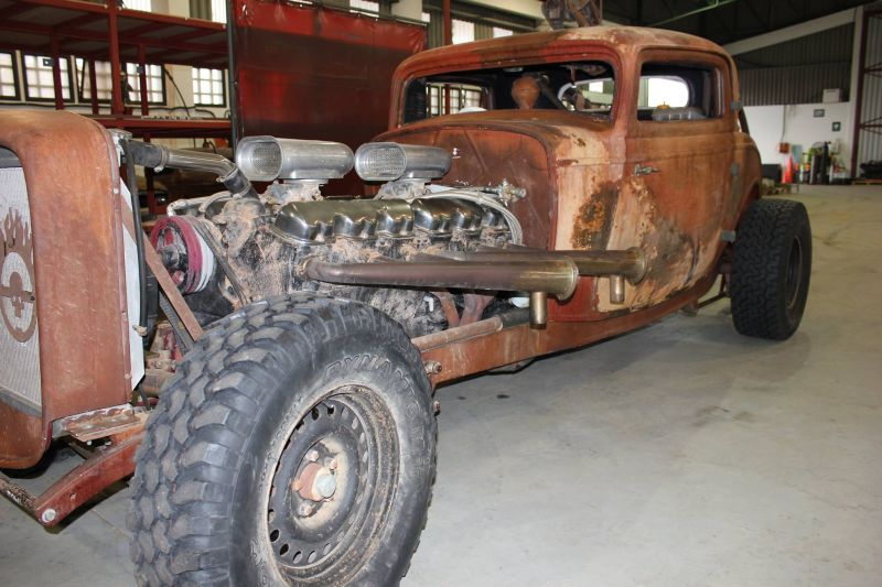 Elvis the GMC V12 hot-rod during the Mad Max: Fury Road production, photo 2