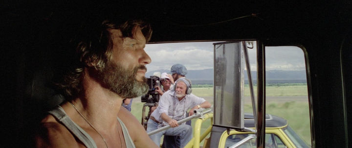 Sam Peckinpah's cameo in Convoy, камео Сэма Пекинпы в фильме Конвой