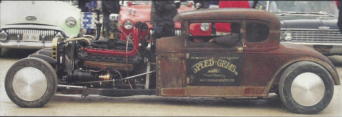 Seagrave V12 rat-rod, shot 1.