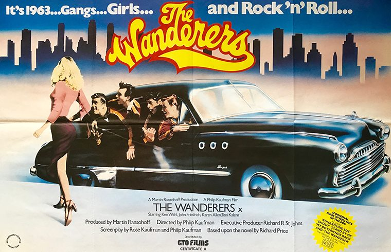 Poster of 1979 film Wanderers by Philip Kaufman resized into a thumb.