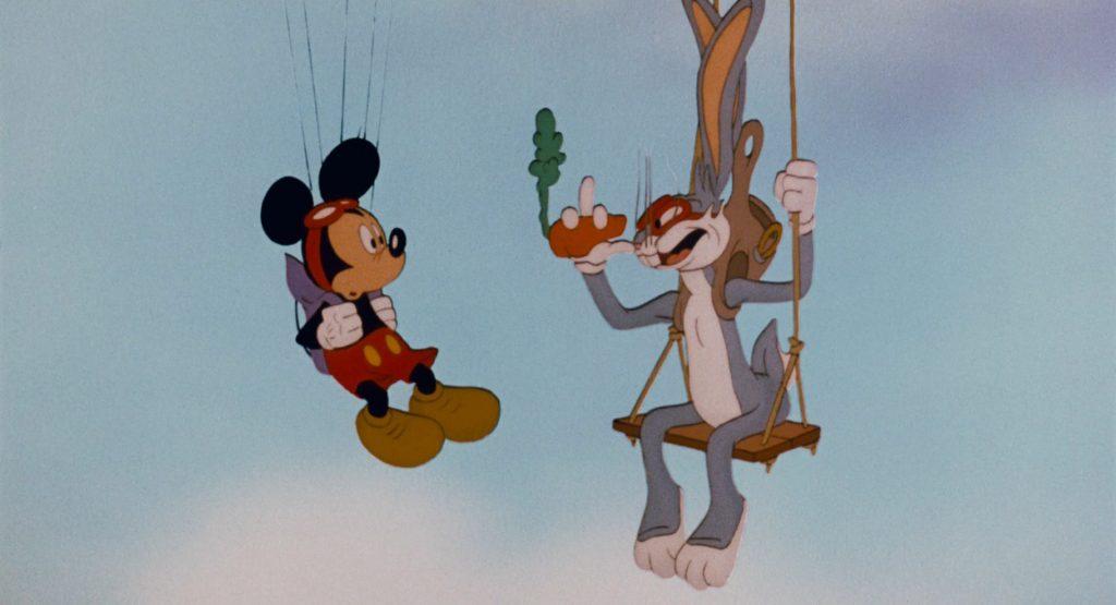 Микки Маус, Багс Банни, Mickey Mouse, Bugs Bunny, впервые вместе на экране