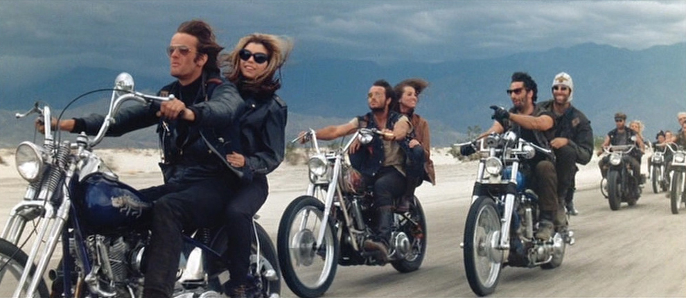 Wild Angels riding on the highway.