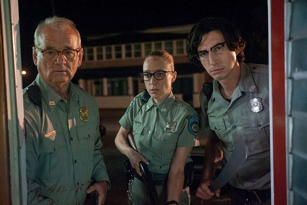 полицейские, Билл Мюррей, Хлоя Севиньи, Адам Драйвер, Мертвые не умирают, кадр из фильма, Dead Don't Die