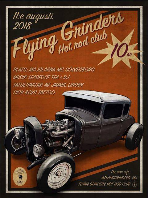 афиша Flying Grinders Hot Rod club, Leadfoot Tea