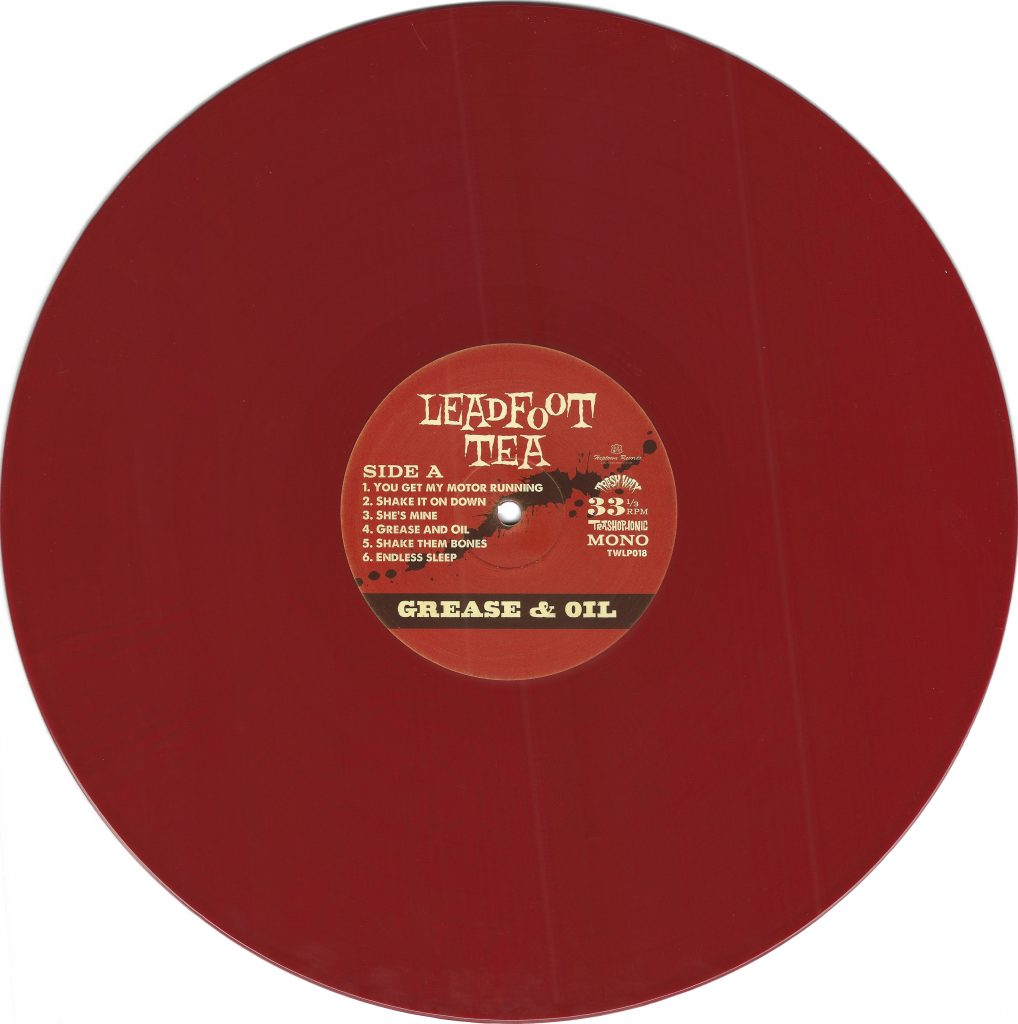 Leadfoot Tea, Grease & Oil, vinyl, red