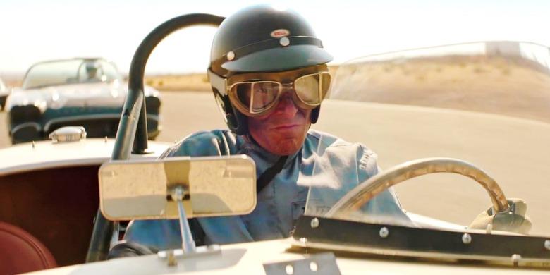 Кен Майлз за рулем Cobra Shelby, ford v ferrari