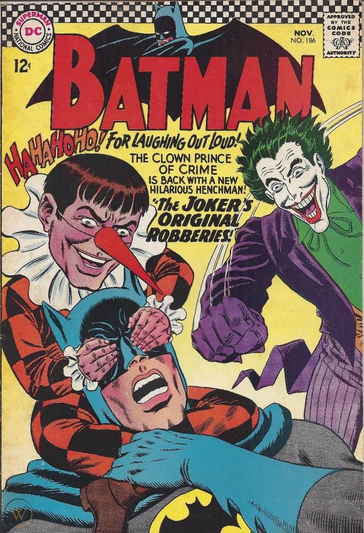 Гэгги Гэгсворт на обложке 186-ого выпуска Batman (ноябрь 1966-ого).