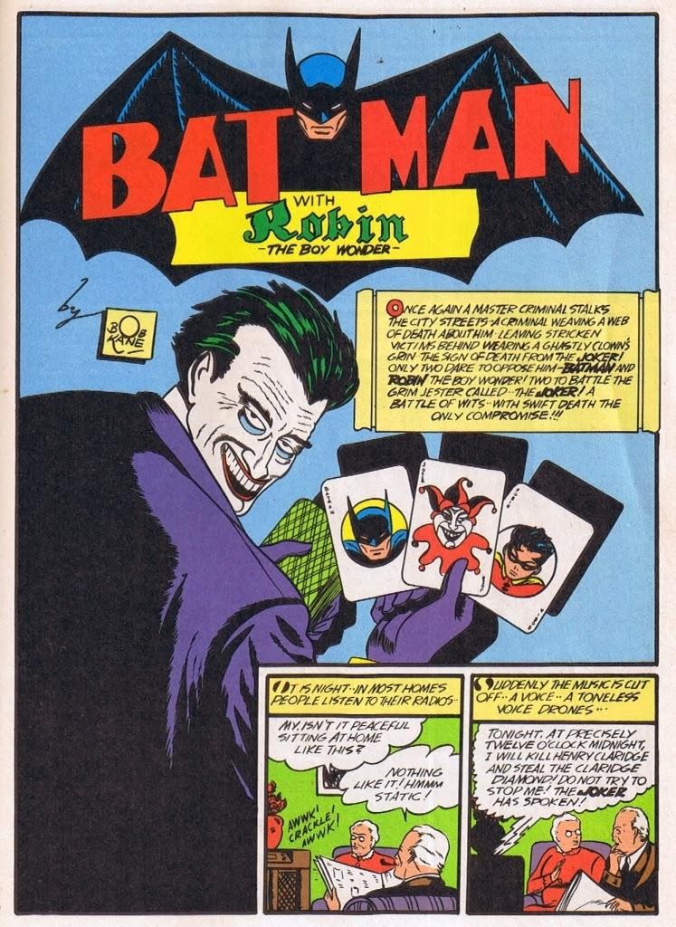 Джокер в первом выпуске Batman (апрель 1940-ого).