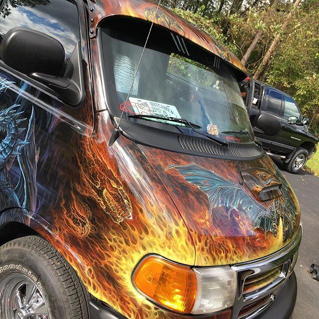 "2000 Dodge Ram Van B1500 ""The Dragon Lord"", body photo, 01."
