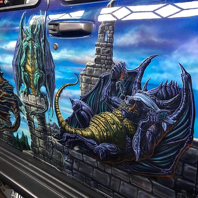 "2000 Dodge Ram Van B1500 ""The Dragon Lord"", artwork details photo, 02."
