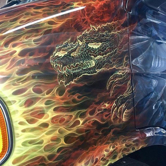 "2000 Dodge Ram Van B1500 ""The Dragon Lord"", artwork details photo, 03."
