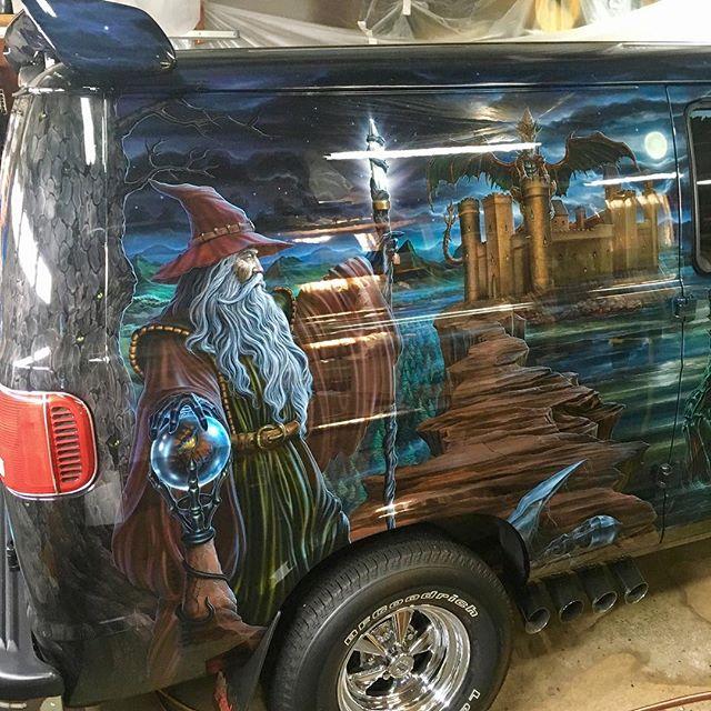 "2000 Dodge Ram Van B1500 ""The Dragon Lord"", artwork details photo, 05."