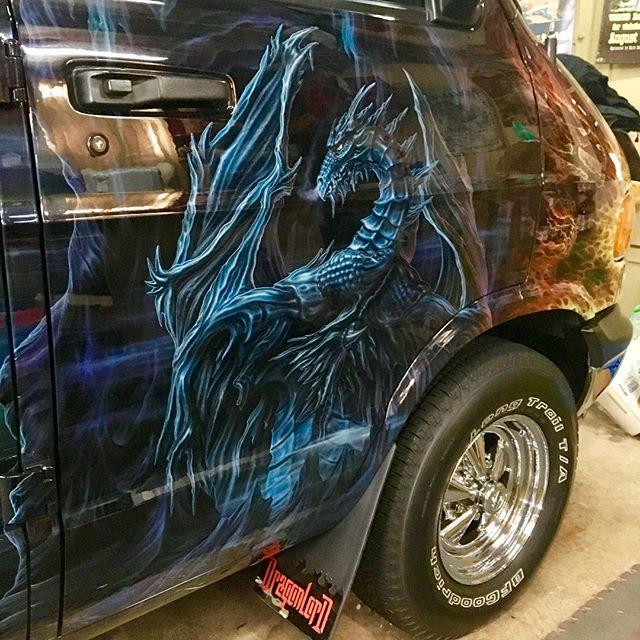 "2000 Dodge Ram Van B1500 ""The Dragon Lord"", artwork details photo, 06."