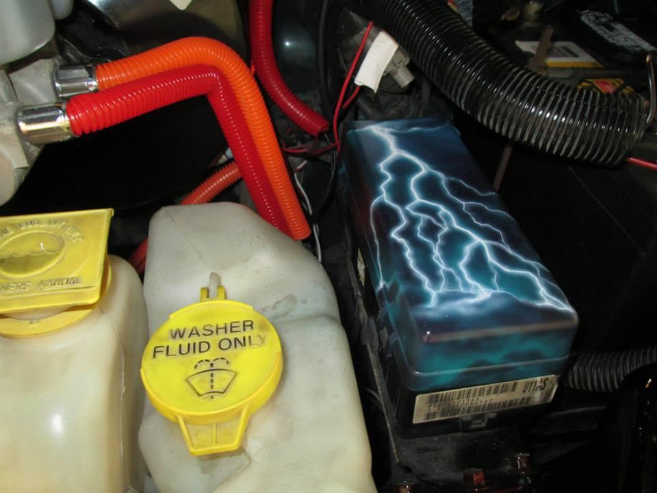 "2000 Dodge Ram Van B1500 ""The Dragon Lord"", engine photo, 02."