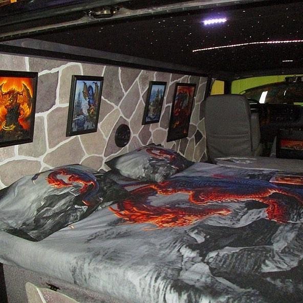 "2000 Dodge Ram Van B1500 ""The Dragon Lord"", interior photo, 01."