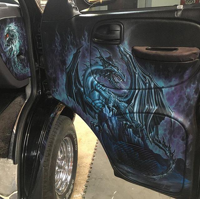 "2000 Dodge Ram Van B1500 ""The Dragon Lord"", interior photo, 02."